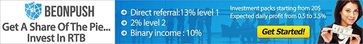 Đầu tư lợi nhuận lên đến 3% trên ngày cùng Beonpush