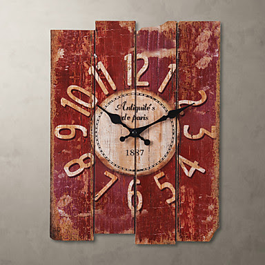 Reloj de pared Tablas estilo Vintage