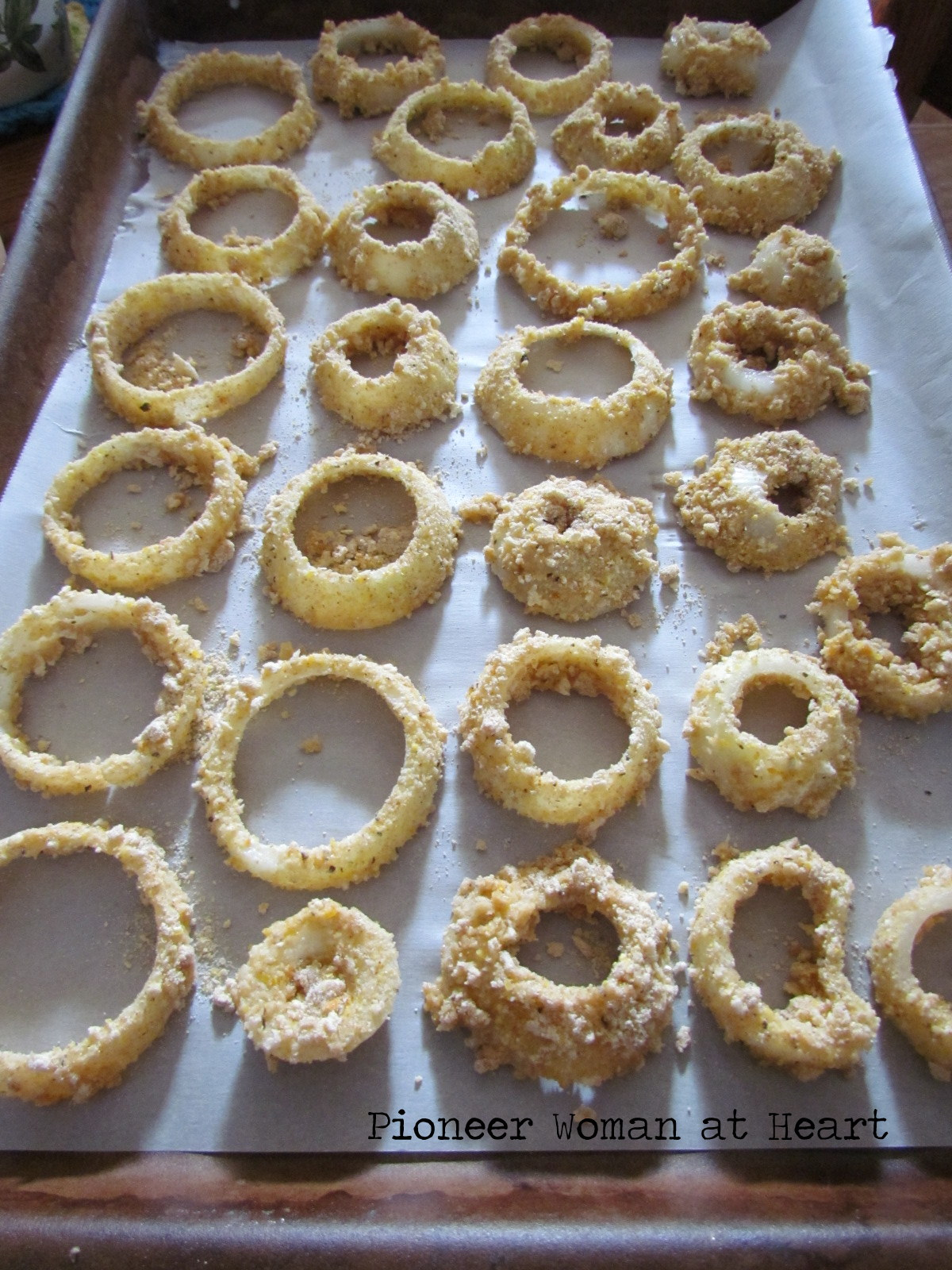 Pioneer Woman At Heart Baked Onion Rings Freezing Onion Soup Onion Powder Freezing