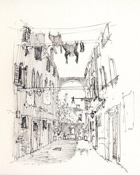 Scarabocchi per la strada venezia in bianco e nero for Disegni bianco e nero paesaggi