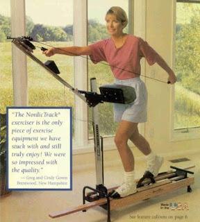 1980's eighties Nordic Track Nordictrack ski machine advertisement excercise equipment