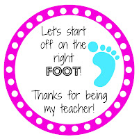 Nail polish and foot lotion make a great back to school gift for teachers when paired with a cute printable tag.