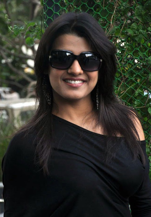 tashu kaushik looking in black dress cute stills