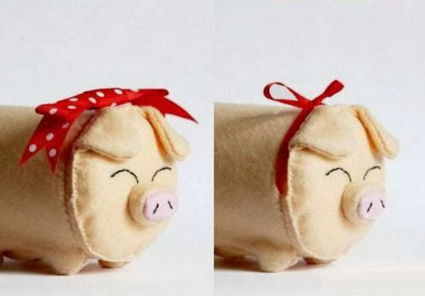 Diy fabric piggy bank the idea king for Piggy bank ideas diy