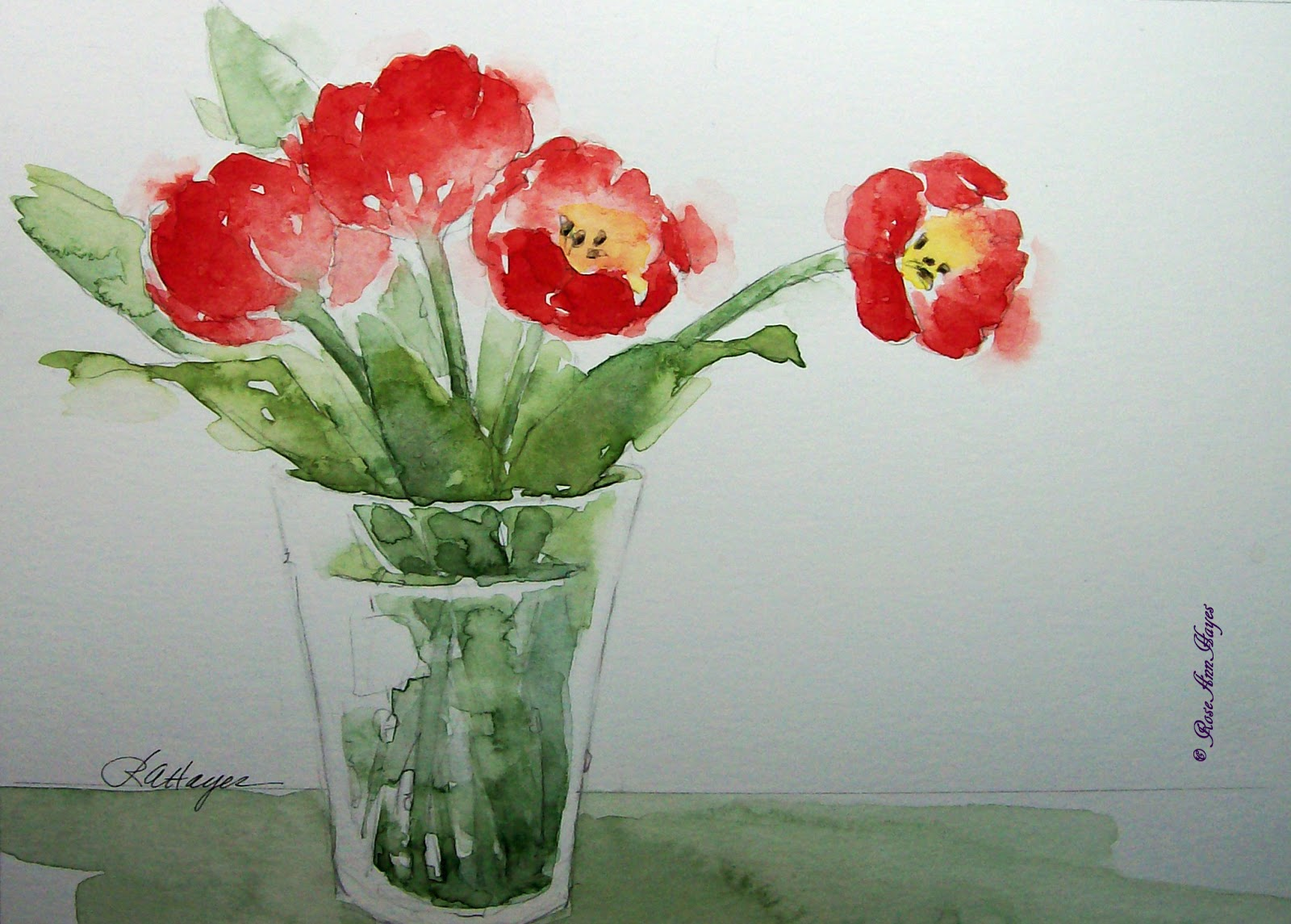 In quot 30 paintings in 30 days quot challenge simple flower garden paintings