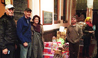 Picture of Mark, Kelly, Lev and volunteers that helped with the disaster relief for the people of Occupy Sandy. The manager of Brooklyn path mark grocery store gave us a discount when we purchased supplies.