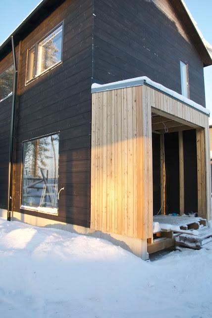 modern exterior, larch