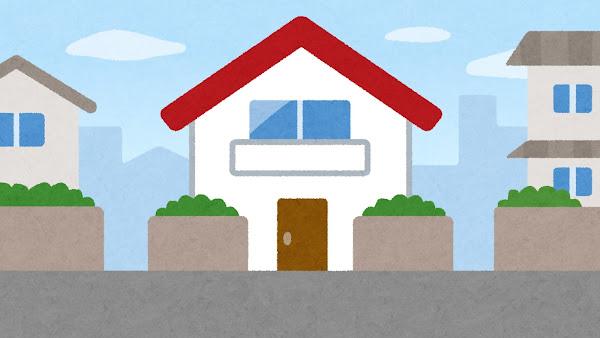 家のイラスト(背景素材)