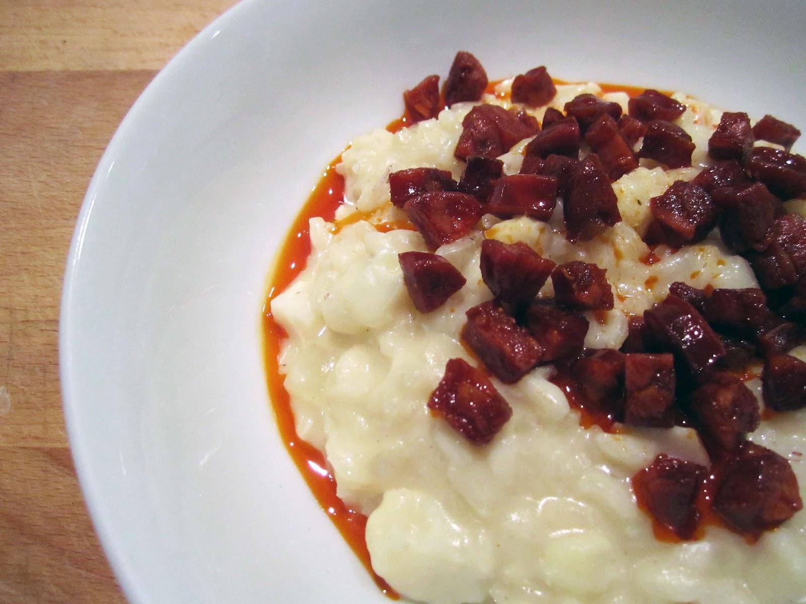 Cauliflower and Mascarpone Risotto with Spicy Chorizo ...