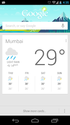 Google Now Cards Layout on Jellybean