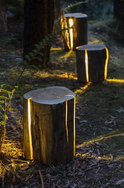 oswietlenie LED w ogrodzie