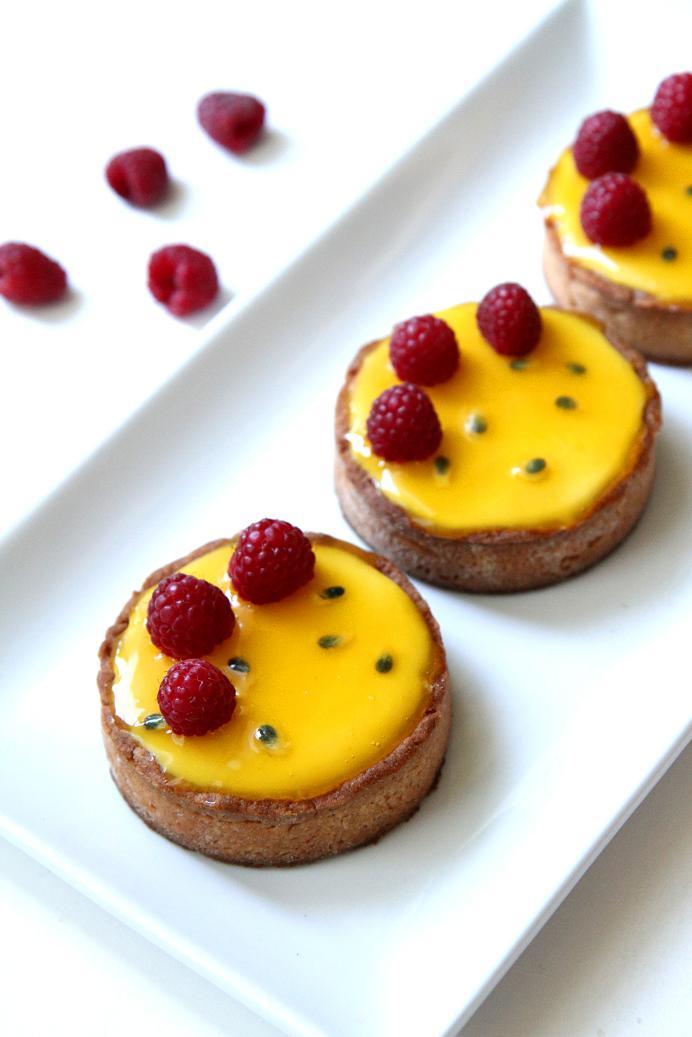 Gourmet Baking: Passion Fruit and Raspberry Tart