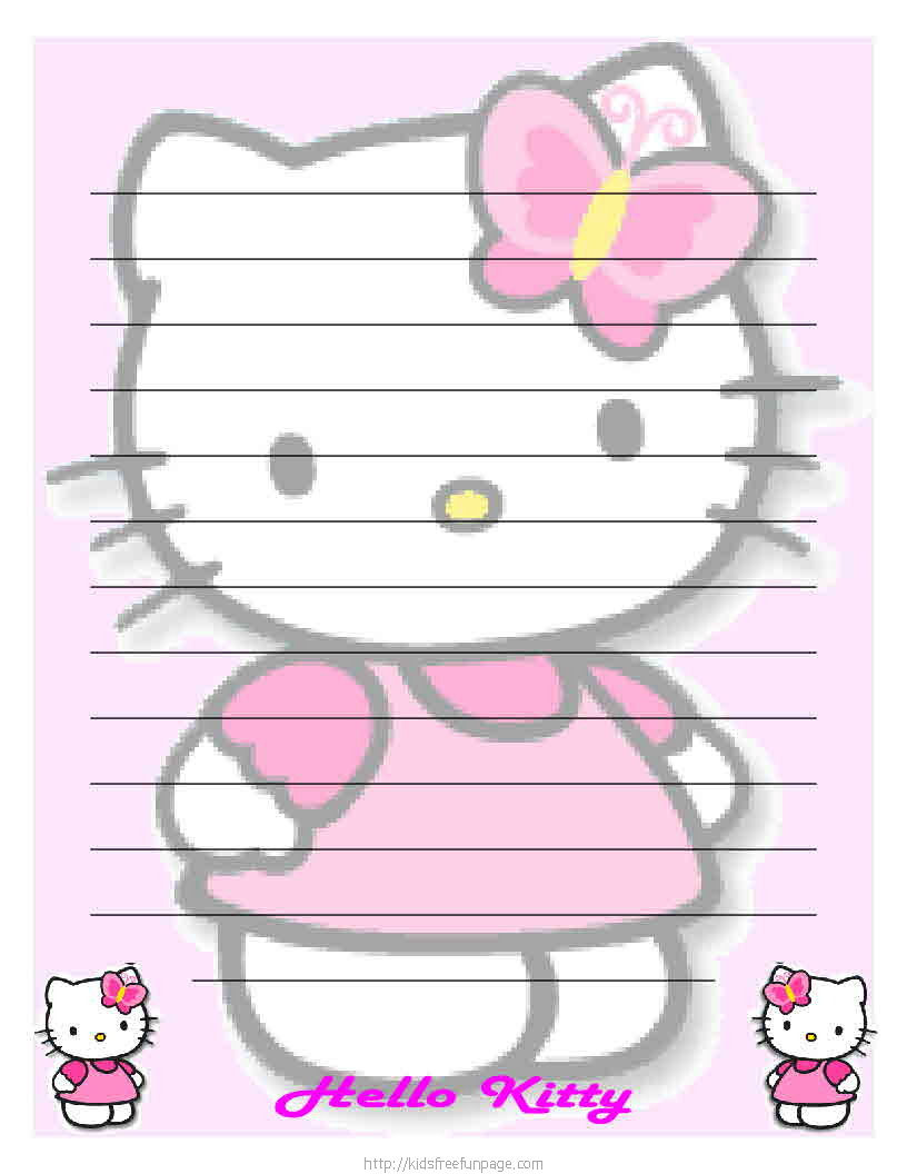 hello kitty printable letter stationary hello kitty forever cute hello kitty printable letter paper stationary