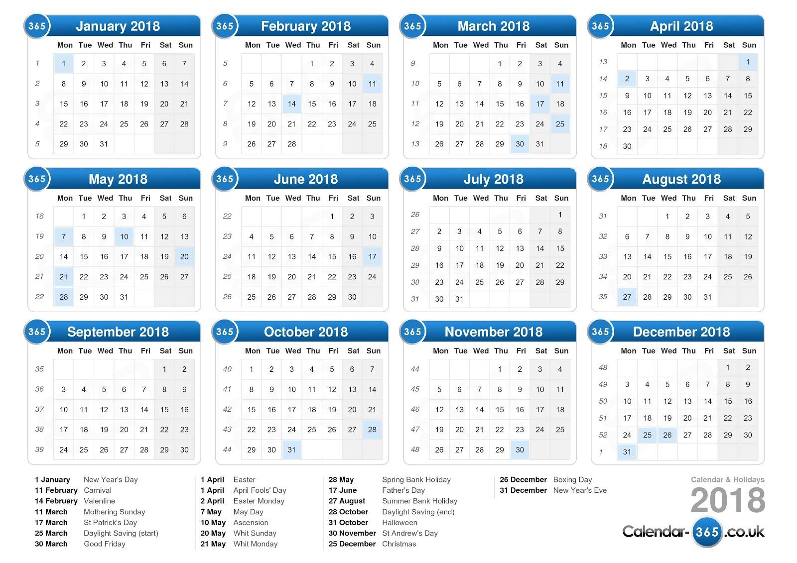 Calendar 2018 Nz With Public Holidays