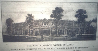Coolidge Corner Building sketch, 1912