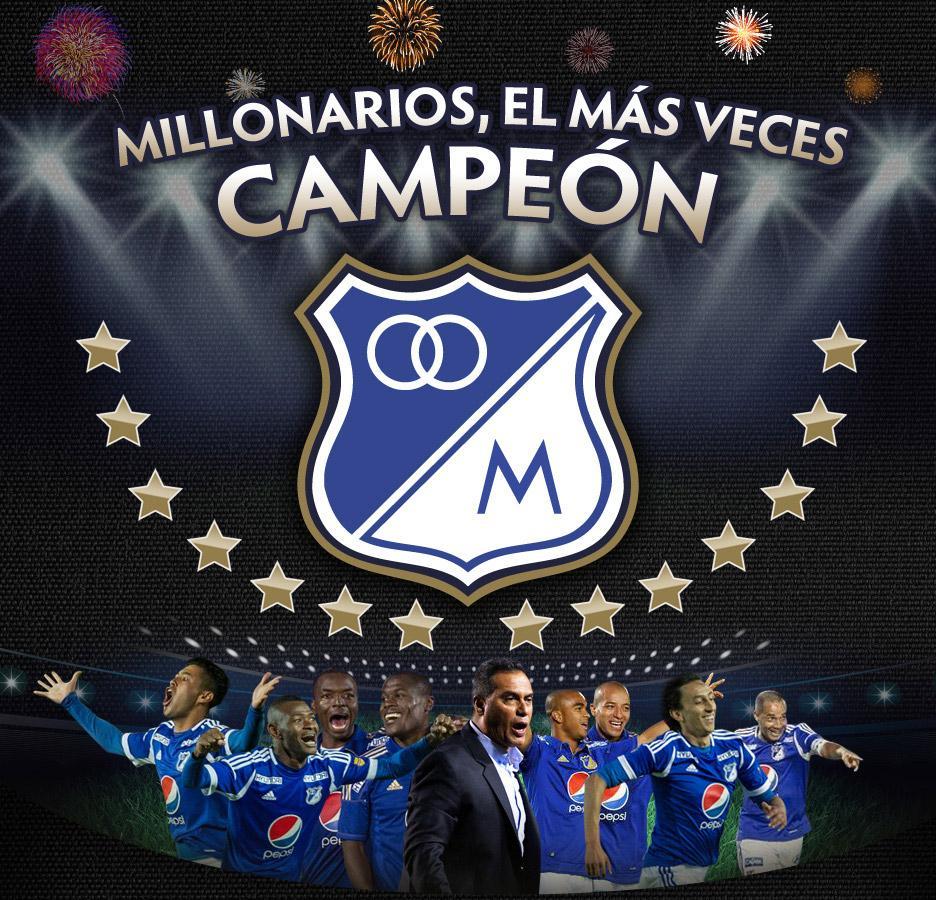 +de+pantalla+millonarios+campeón+liga+Postobon+2012+14+estrellas+de