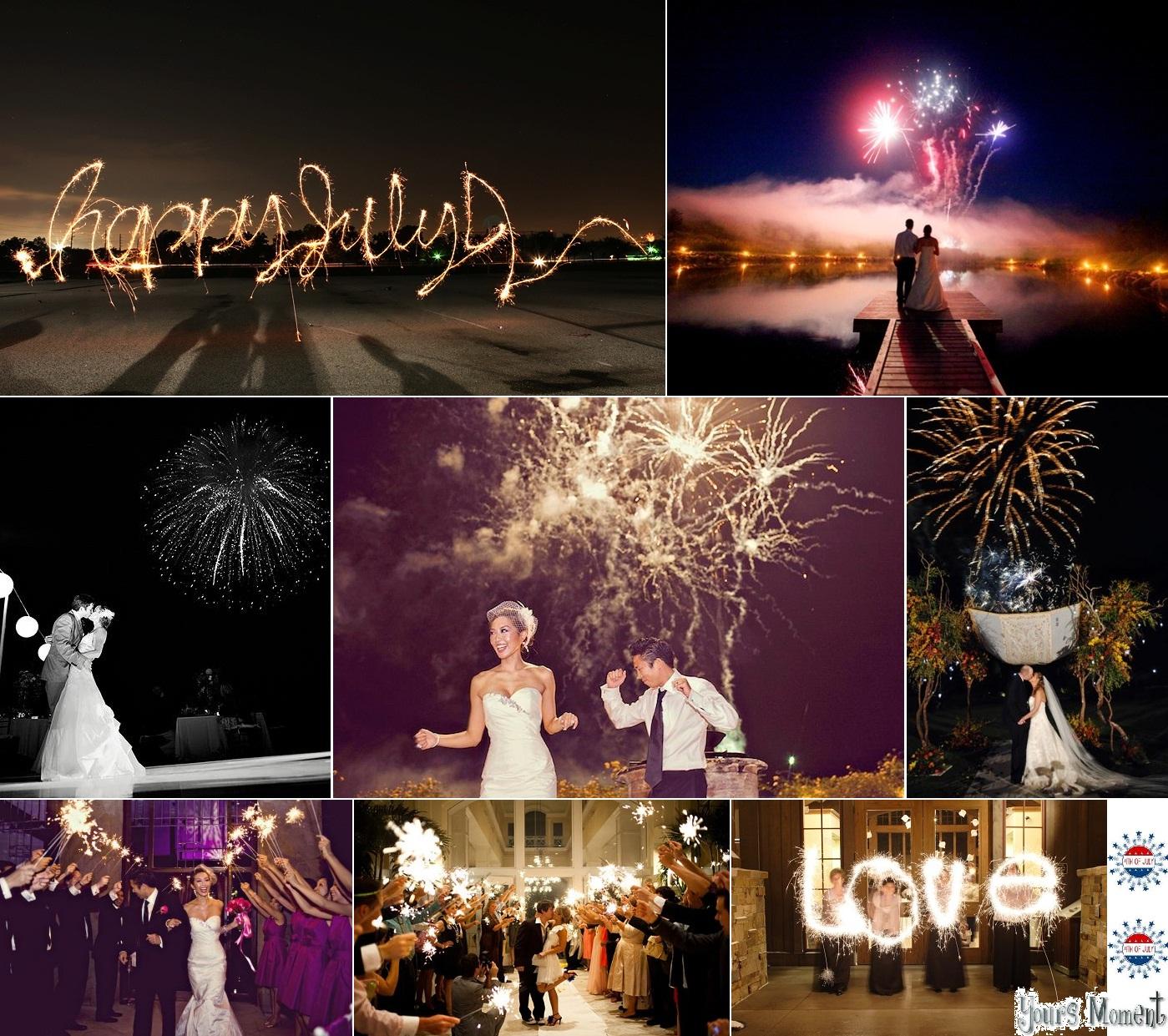 yours moment fourth of july inspired wedding fireworks. Black Bedroom Furniture Sets. Home Design Ideas