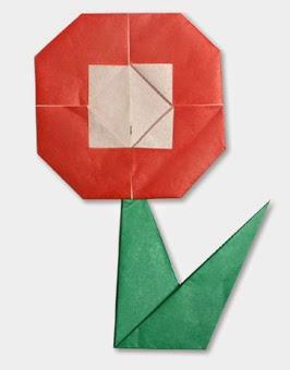 Hướng dẫn cách gấp bông hoa bằng giấy đơn giản - Kiểu 2 - Xếp hình Origami với Video clip - How to make a flower
