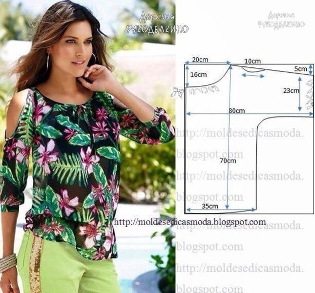 Выкройки простых летних блуз