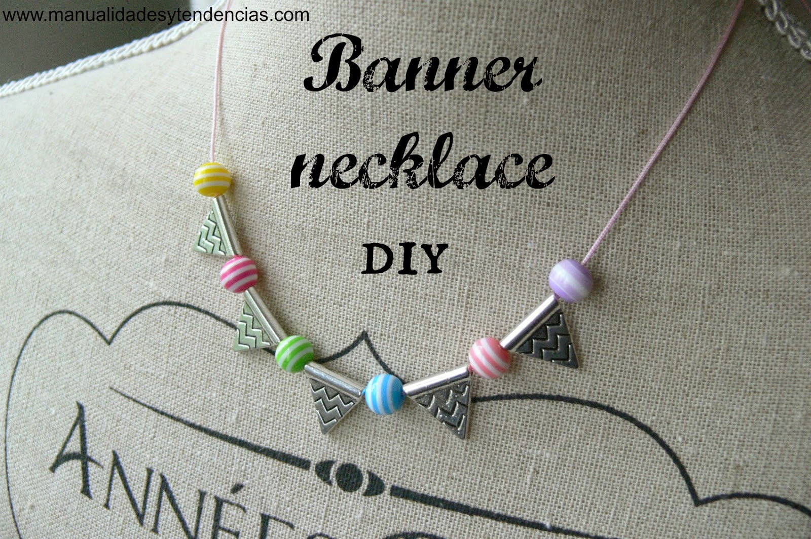 Banner necklace diy