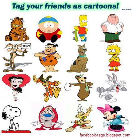facebook tags cartoons. Collection Cartoon Tags