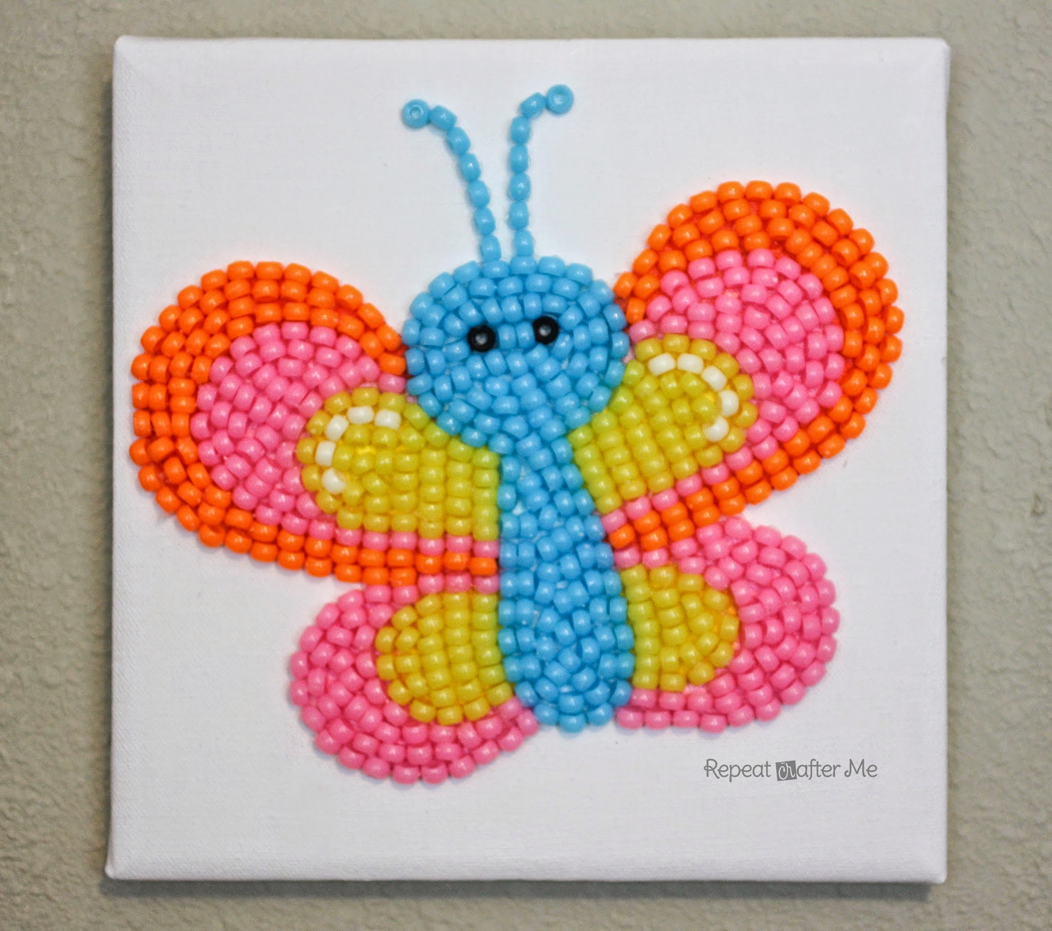 Repeat crafter me pony bead butterfly for Beads for craft projects