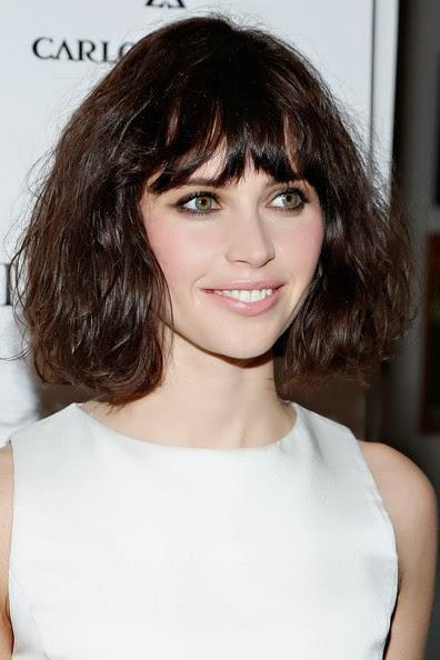 Felicity Jones Hairstyle