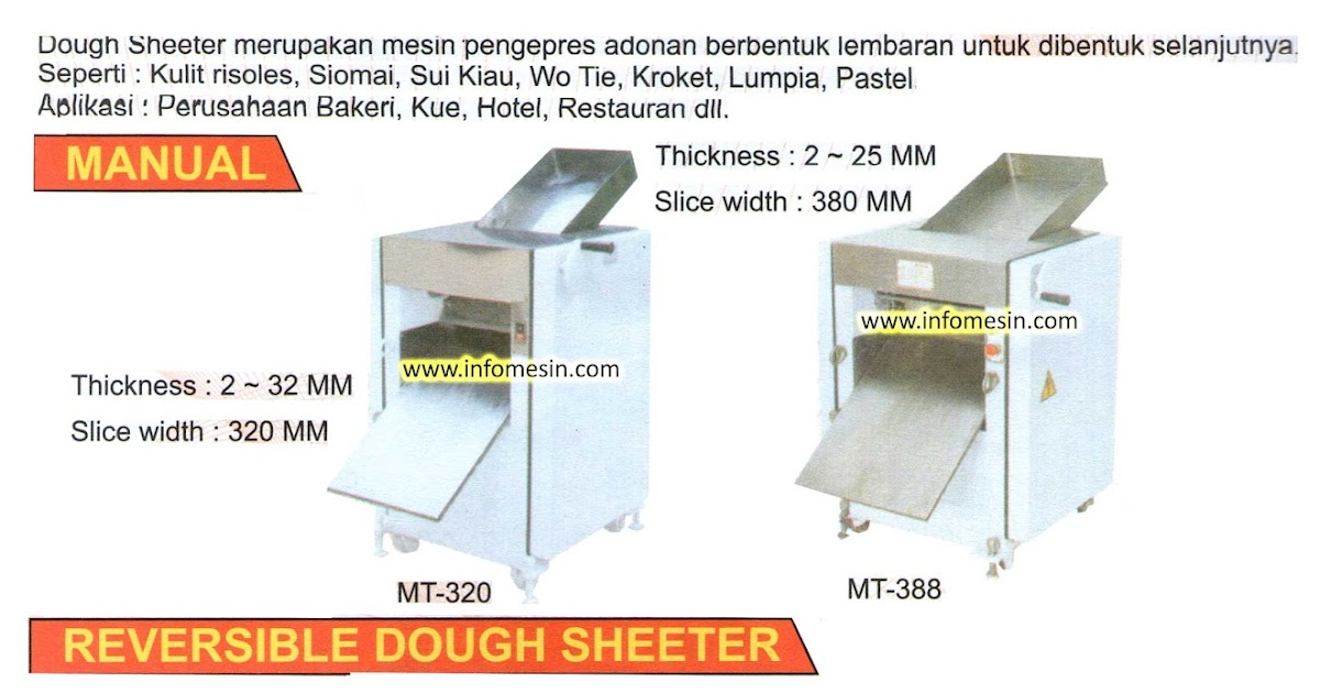 Dough Sheeter Kitchen Equipment