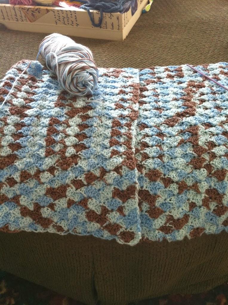 Crochet Shell Blanket Crafty 2 The Core