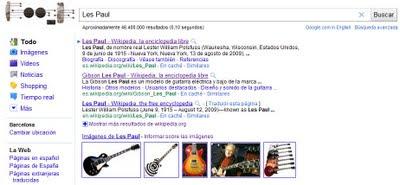 Buscar les paul en google