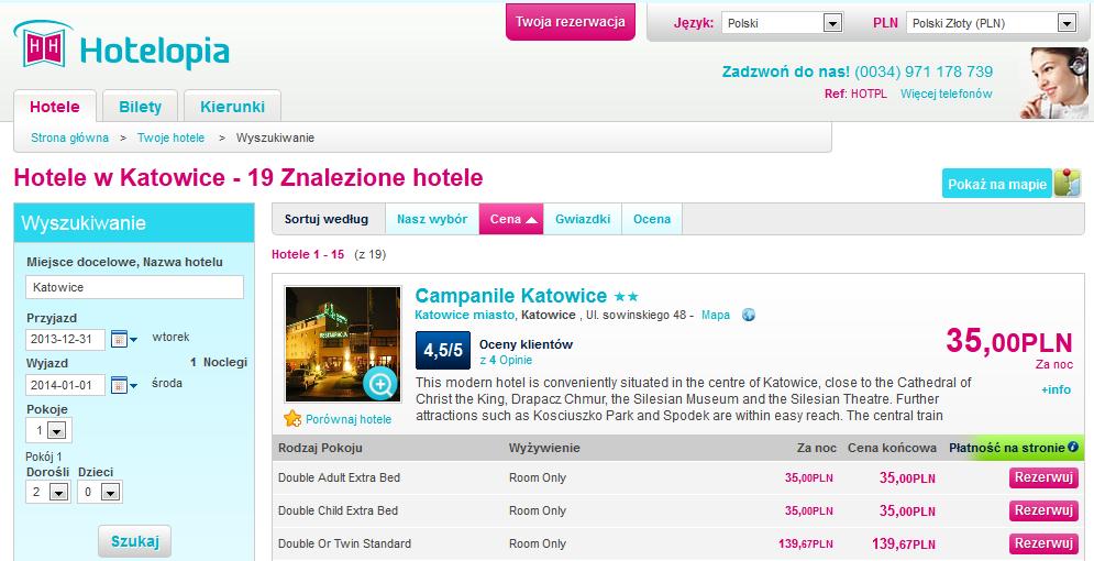 Campanile Katowice Hotelopia