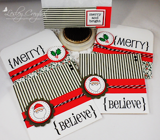 SRM Stickers Blog - Quick Christmas Cards by Lesley - #cards #christmas #gift #glassine bag  #twine #quick cards
