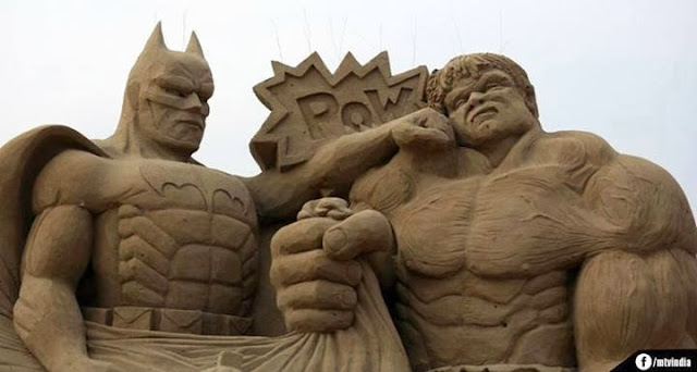 Amazing Statue Pics, Batman VS Hulk, Funniest Pics caught on cam, amazing and funniest photos in world,extreme pics,