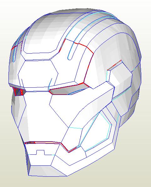 Sharkmark VI Iron Man Helmet Unfolded by Dubean33 pdo
