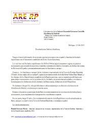 A la atención de la Señora Manuela Carmena Castrillo, Alcaldesa de Madrid