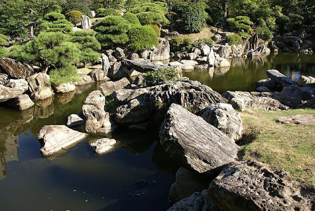 pedras jardim japones