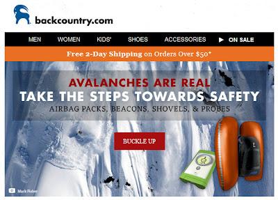 Nov. 4, 2012 Backcountry.com email