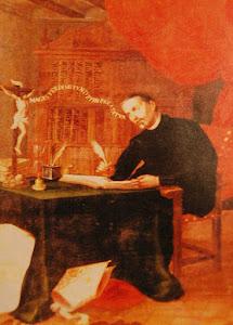 Imagen de San Juan de Ávila en el Paraninfo de la Universidad de Baeza