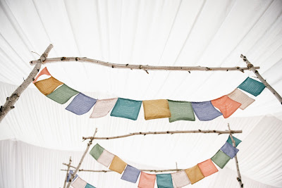 ceremony space under the birch and prayer flag blessings prayer flag ...