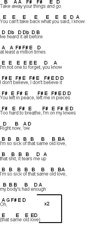 Flute Sheet Music Same Old Love