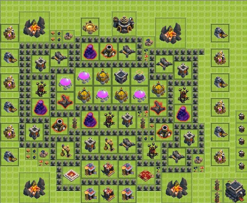 Level-5 Town Hall Farming Base