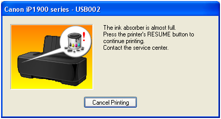 Printer Canon Pixma MP258 – Absorber Full | How to Service my