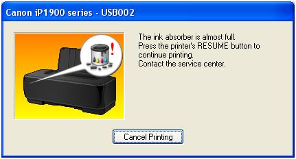 Printer Canon Pixma MP258 – Absorber Full