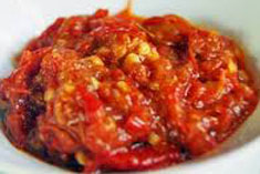 resep masakan indonesia sambal terasi spesial, istimewa, pedas, nikmat