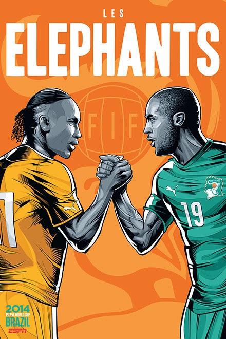 Poster keren world cup 2014 - Pantai Gading