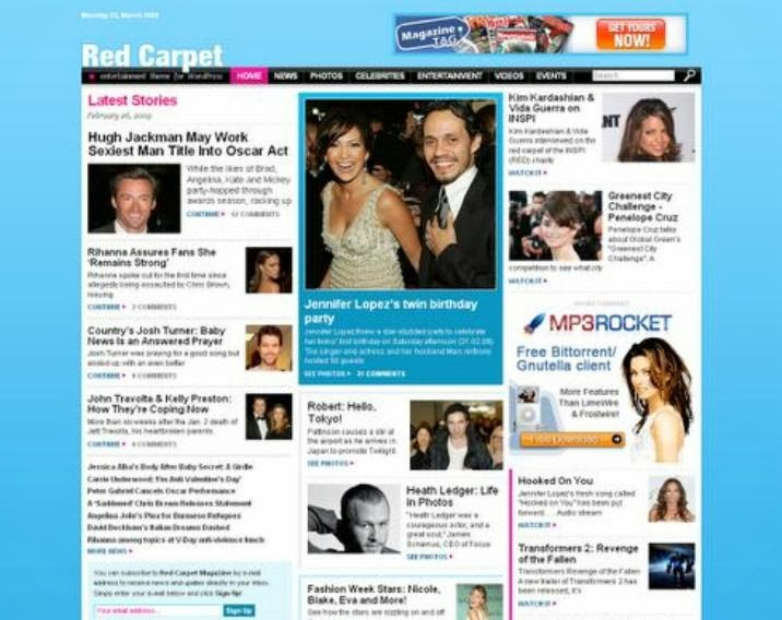 Celebrity Magazine Red Carpet Theme