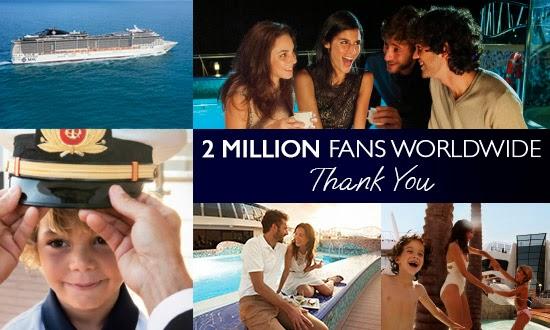 Msc Crociere raggiunge 2 milioni di fan su face book