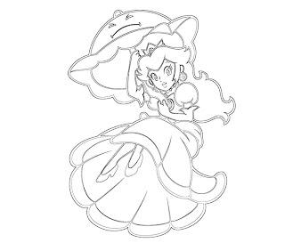 #26 Princess Peach Coloring Page