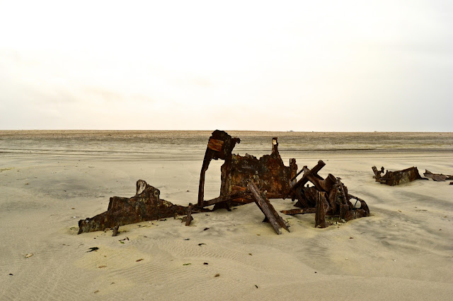 Shipwreck along the Skeleton Coast, Namibia