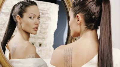 Celebrity tattoos - Angelina Jolie Text Tattoos